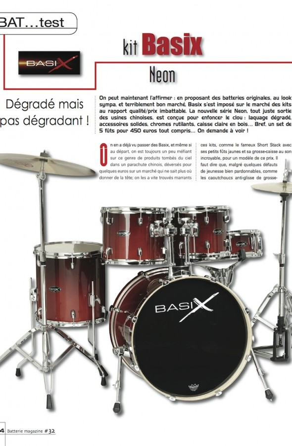 Set Neon Basix – Batterie Magazine n°32