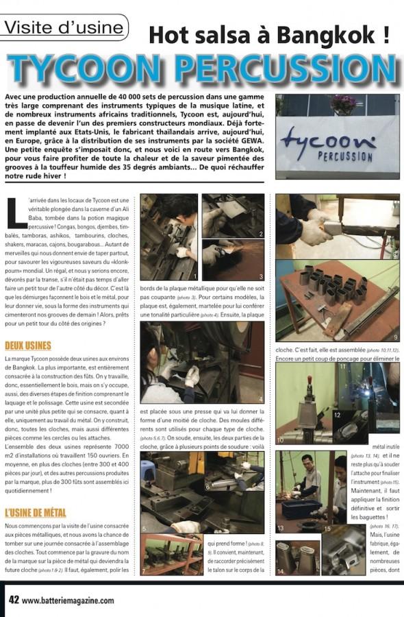 Visite de l'Usine Tycoon – Batterie Magazine n°54