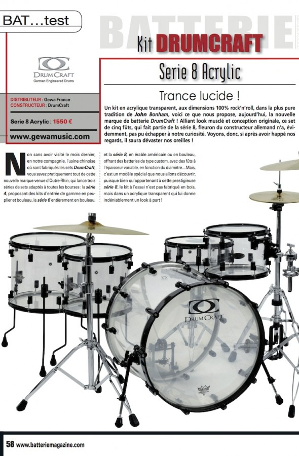 Set Acrylic Rock DrumCraft – Batterie Magazine n°62