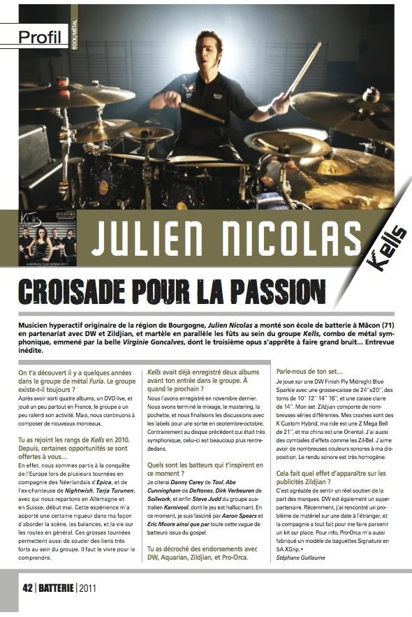 Julien Nicolas – Batterie Magazine n°79
