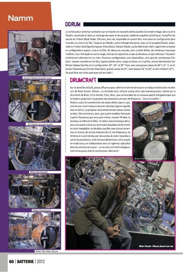 DrumCraft Namm 2012 – Batterie Magazine n°88