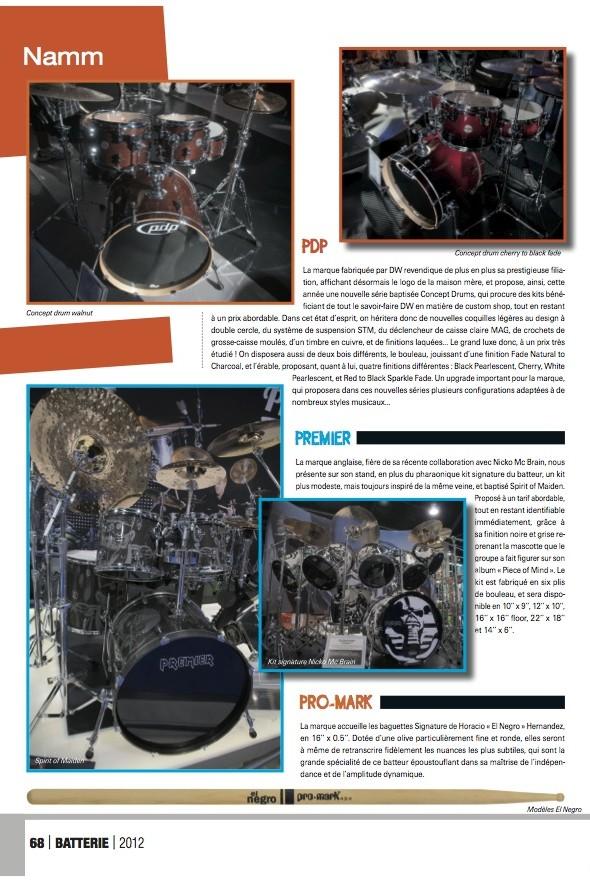 PDP Namm 2012 – Batterie Magazine n°88