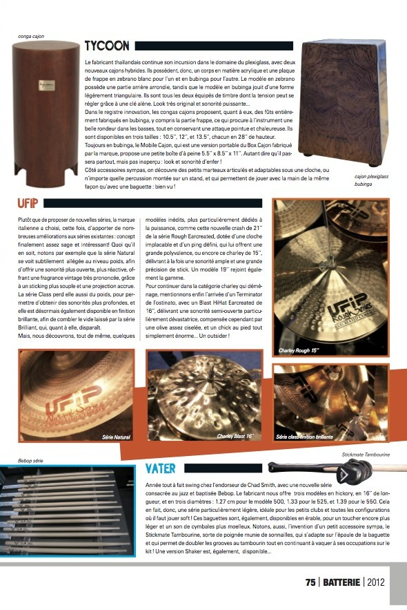 Tycoon Namm 2012 – Batterie Magazine n°88