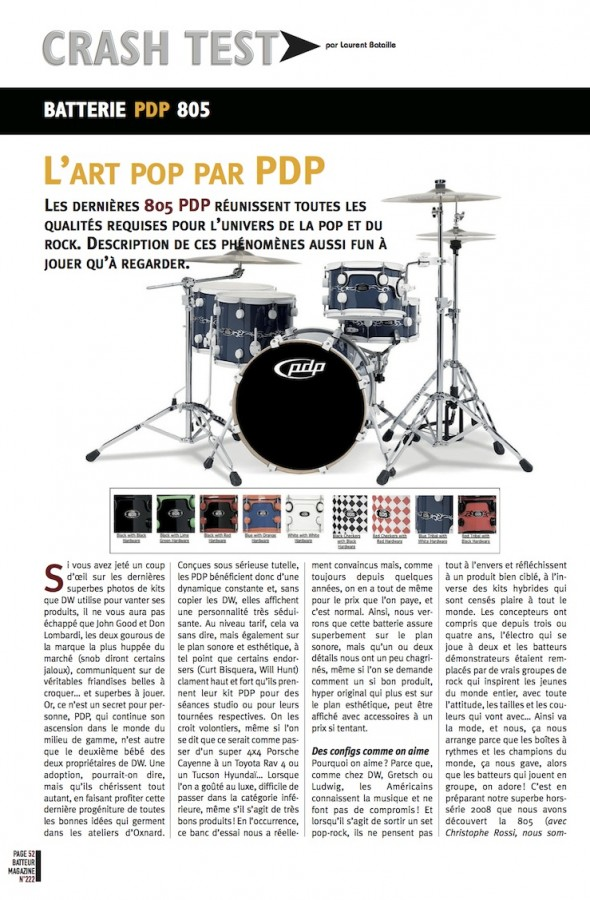 Set 805 PDP – Batteur Magazine n°222