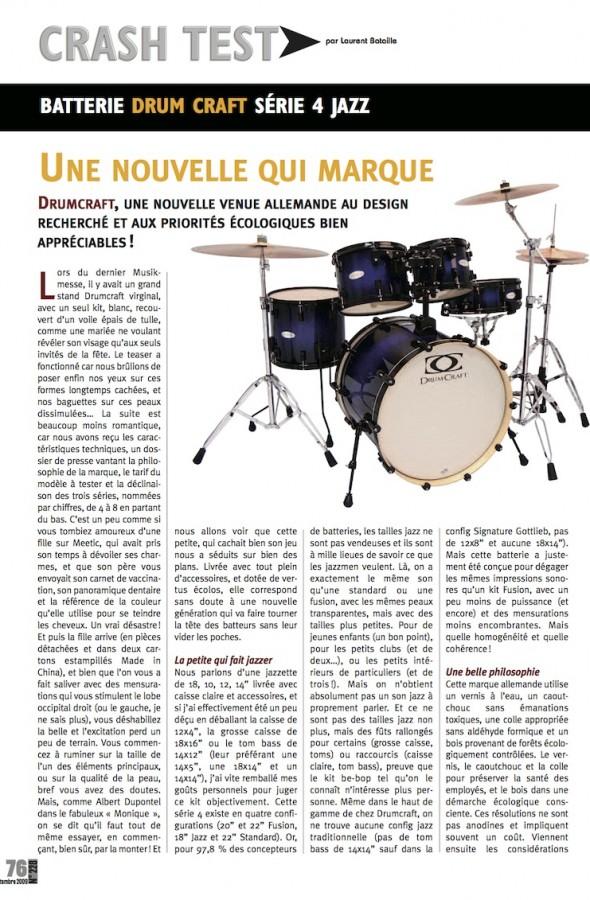 Set Serie 4 Jazz DrumCraft – Batteur Magazine n°228