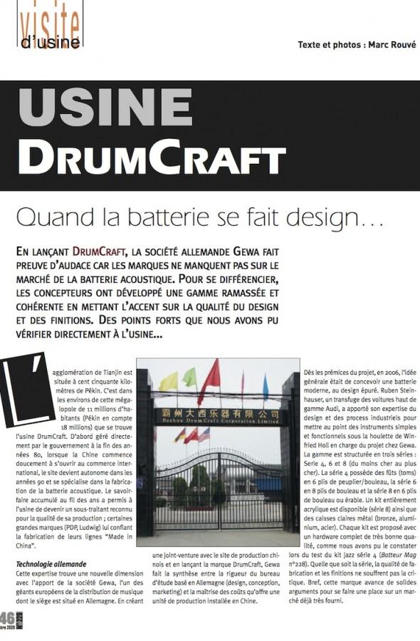Visite de l'Usine DrumCraft – Batteur Magazine n°229
