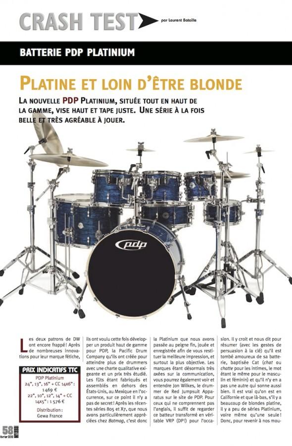 Set Platinium PDP – Batteur Magazine n°233