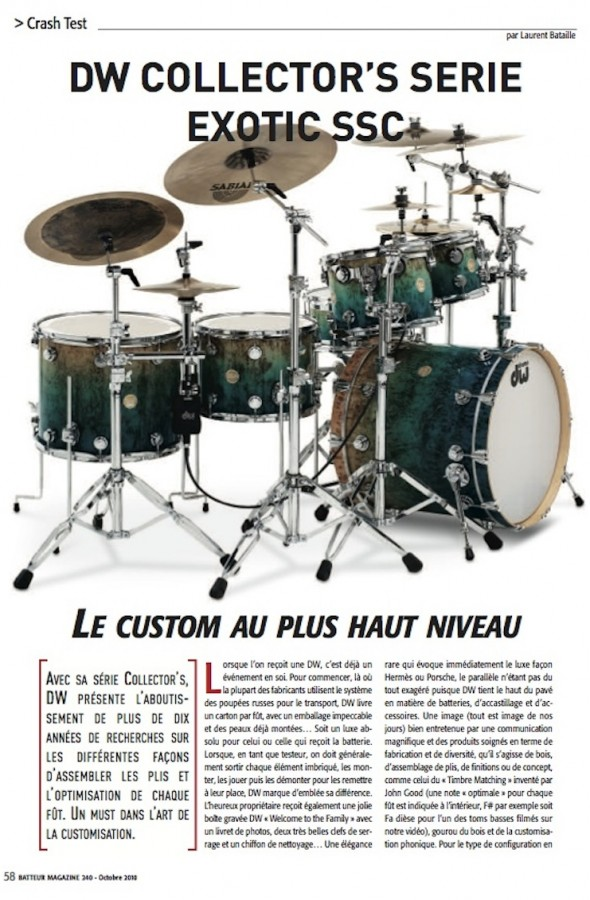 Collector SSC DW – Batteur Magazine n°240