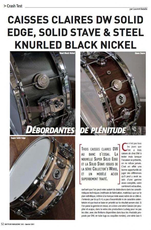 Caisses Claires DW – Batteur Magazine n°243