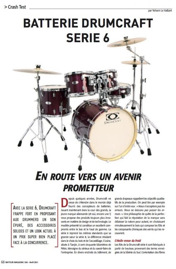 Série 6 DrumCraft – Batteur Magazine n°246