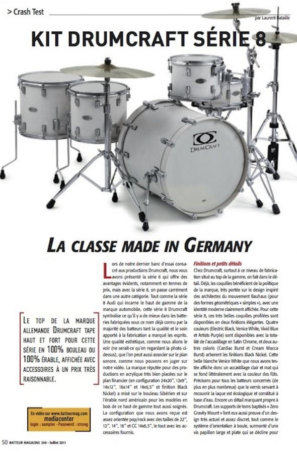 Série 8 DrumCraft – Batteur Magazine n°249