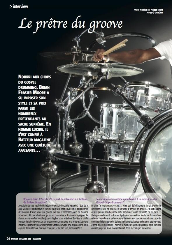 Brian Frasier Moore – Batteur Magazine n°256