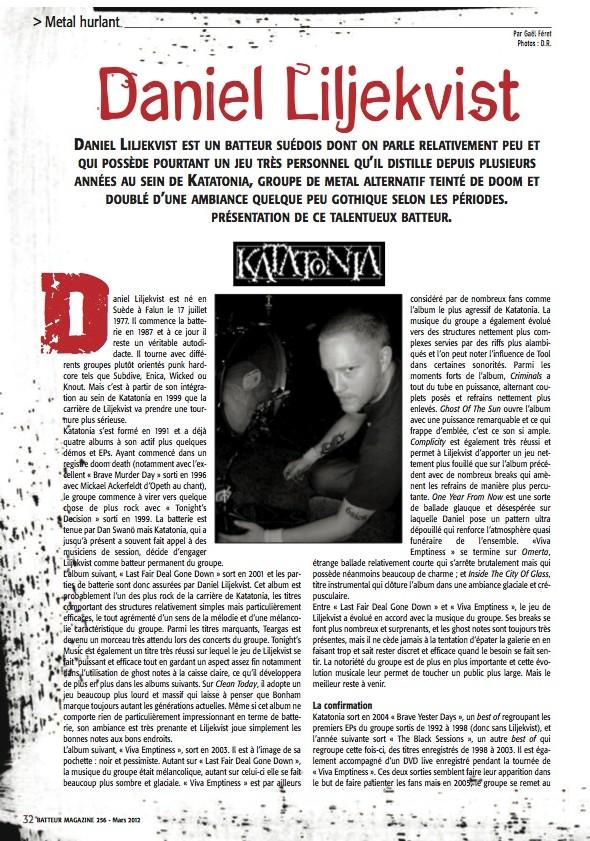 Daniel Liljekvist – Batteur Magazine n°256