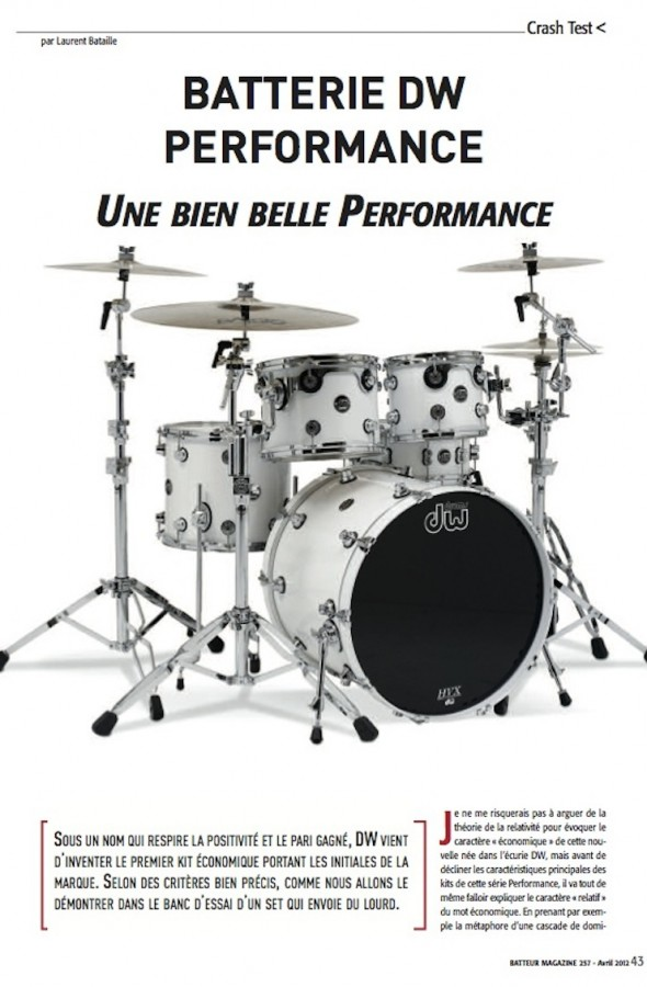 Performance DW – Batteur Magazine n°257
