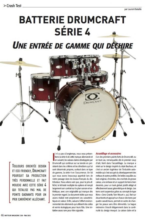 Set Série 4 DrumCraft – Batteur Magazine n°258