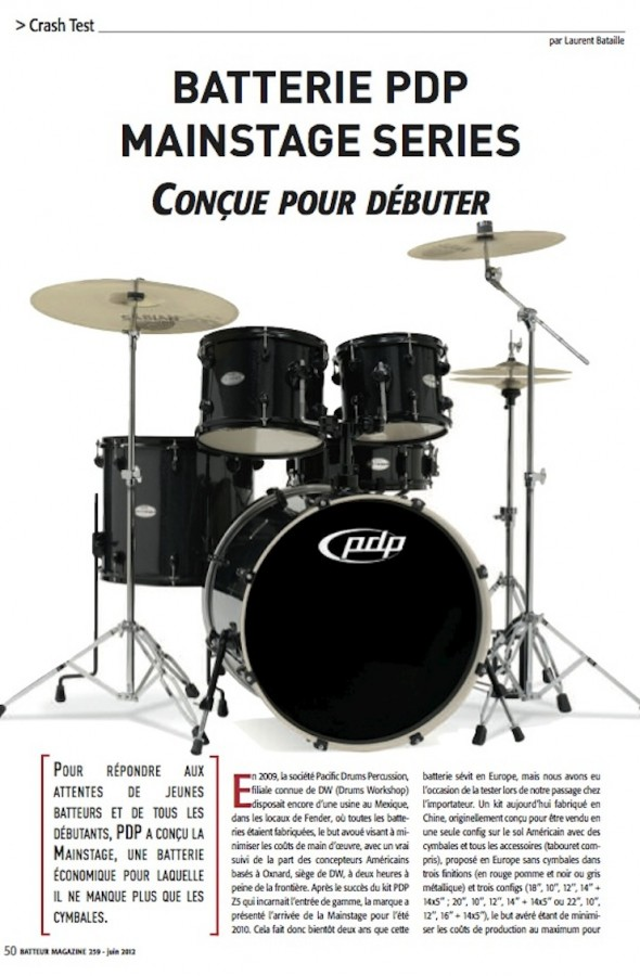 Mainstage PDP – Batteur Magazine n°259