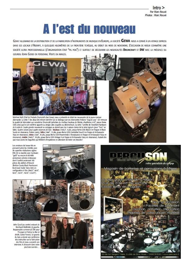 Hausmesse 2011 – Batteur Magazine n°253