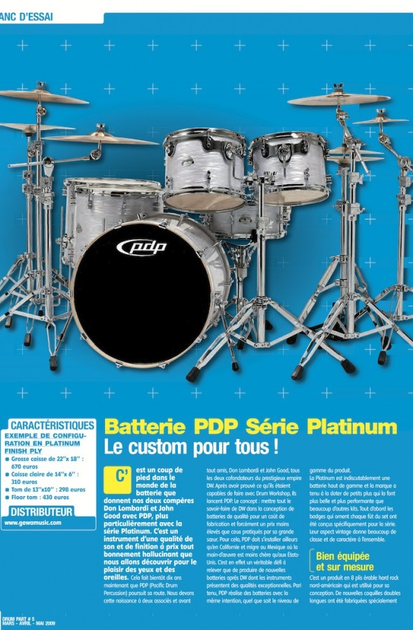 Set Platinium PDP – Drum Part n°5