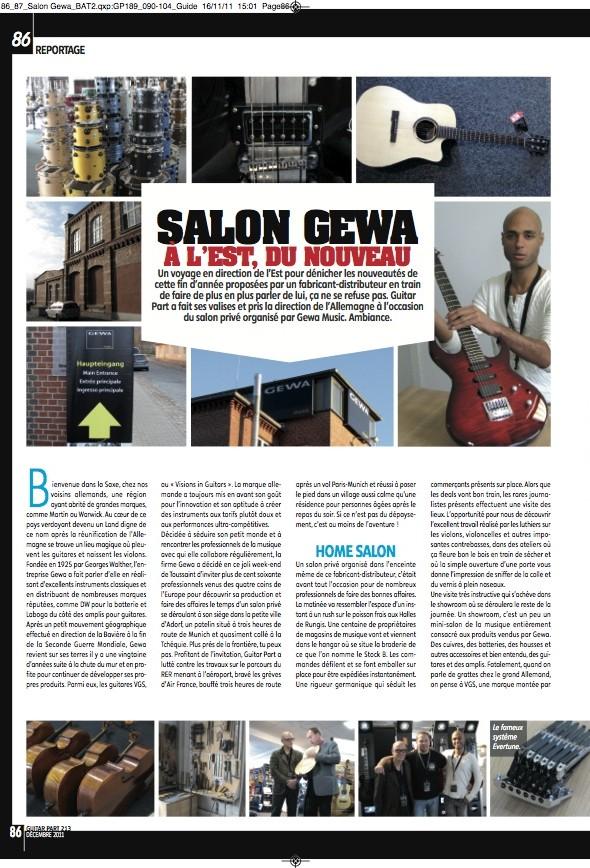 Hausmesse 2011 – Guitar Part n°213