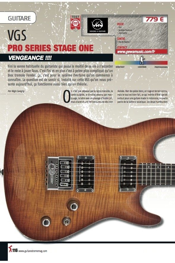 Stage One Pro Series VGS – Guitare Xtreme n°49