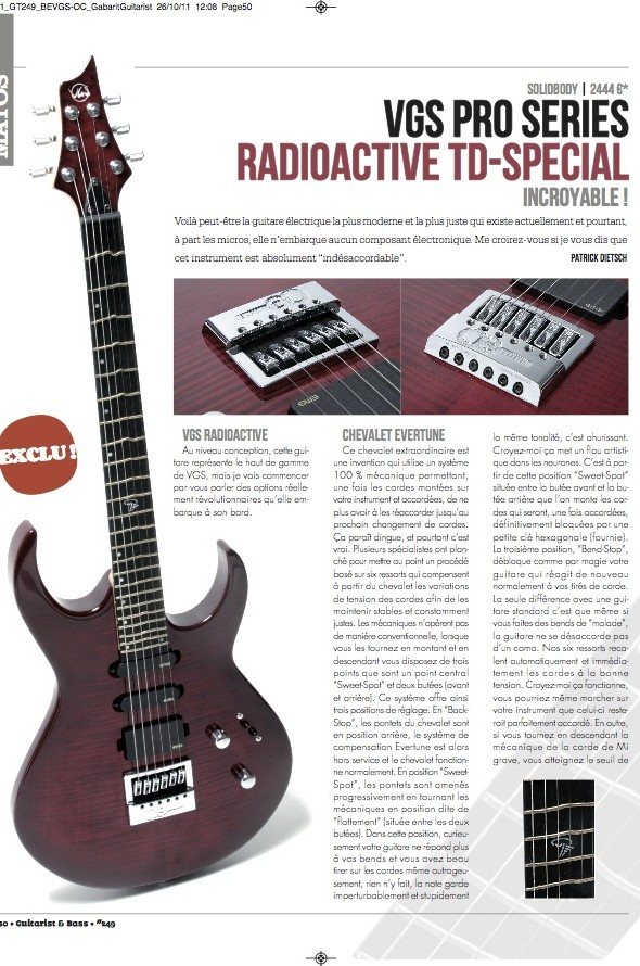 TD-Special VGS – Guitarist Magazine n°249