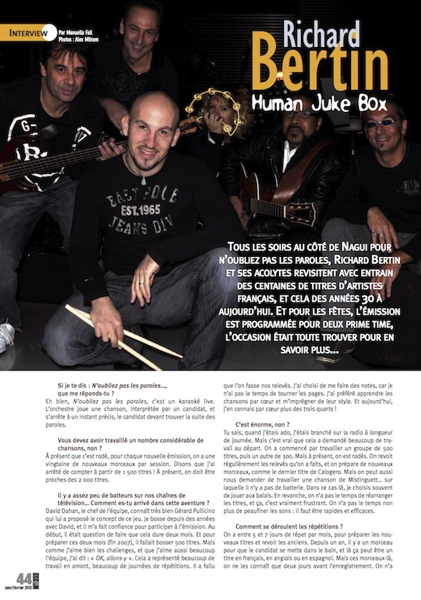 Richard Bertin – Batteur Magazine n°232