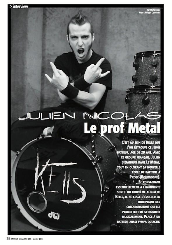 Julien Nicolas – Batteur Magazine n°254