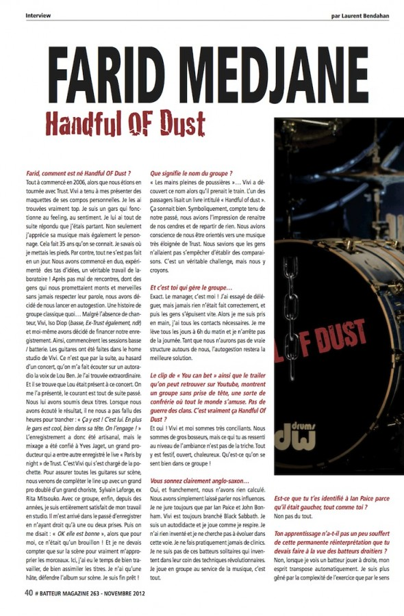 Farid Medjane – Batteur Magazine n°263