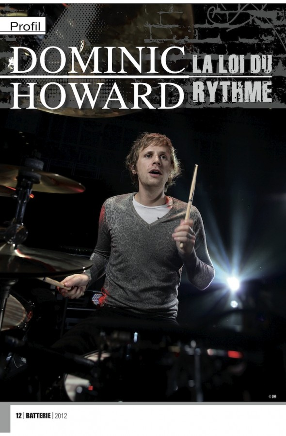 Dominic Howard – Batterie Magazine n°93