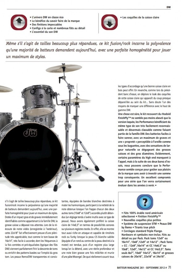 Performance DW – Batteur Magazine n°261