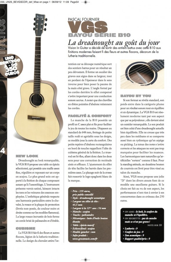 Bayou B-10 VGS – Guitar Unplugged n°25