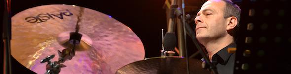 Francis Arnaud, batteur Paiste, en concert avec Tricia Evy quartet