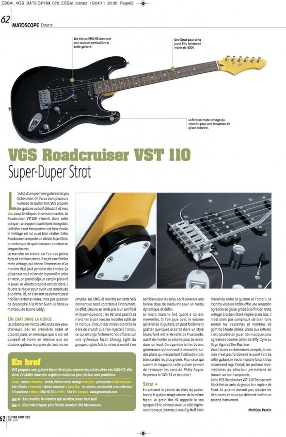 Roadcruiser Select Series VST-110 VGS – Guitar Part n°206