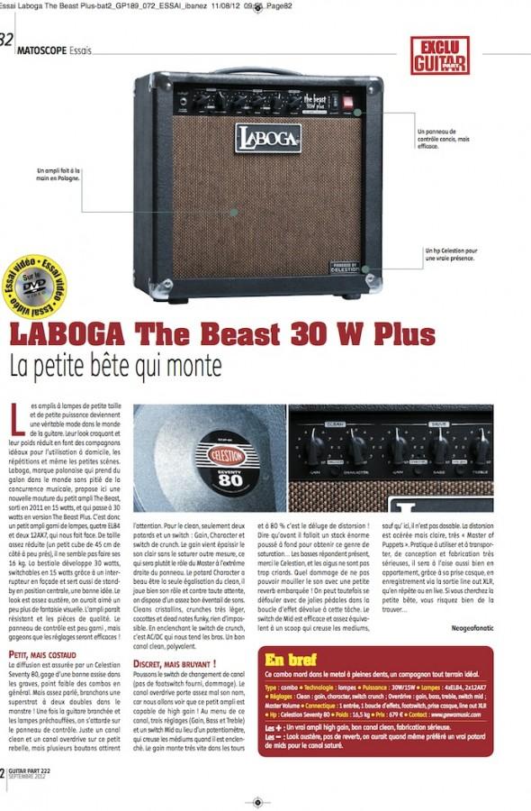 The Beast 30 Plus Laboga – Guitar Part n°222