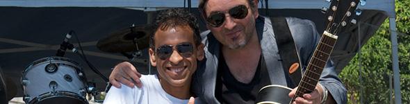 Bruno Dandrimont et Jean-Philippe Fanfant en concert avec Christophe Maé à Nîmes