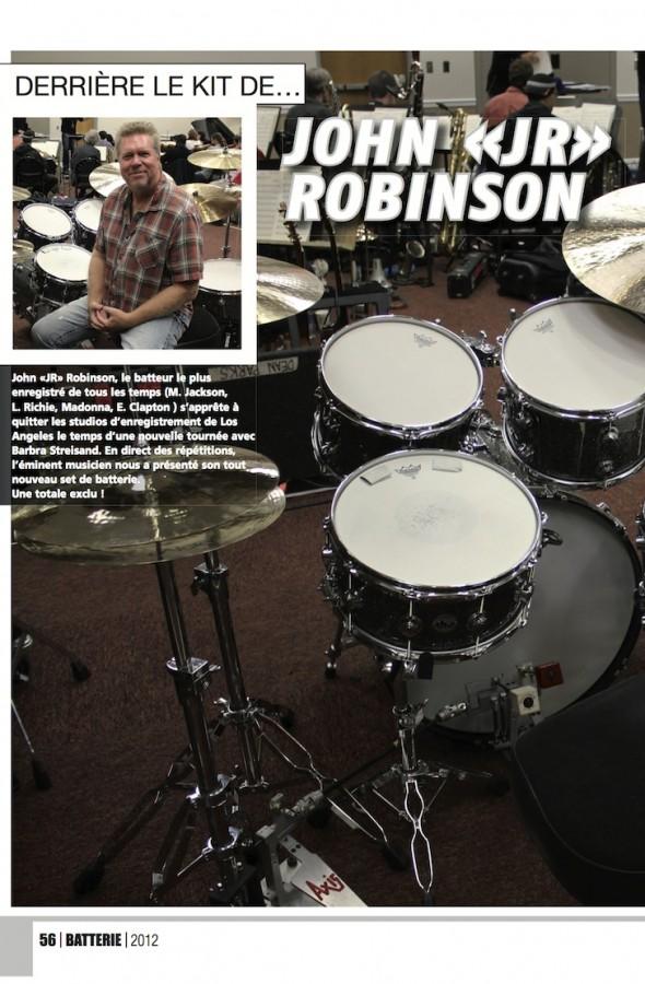 John «Jr» Robinson – Batterie Magazine n°96