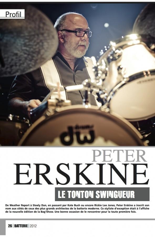 Peter Erskine – Batterie Magazine n°96
