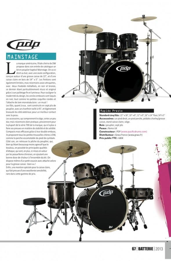 Set Mainstage PDP – Batterie Magazine n°98