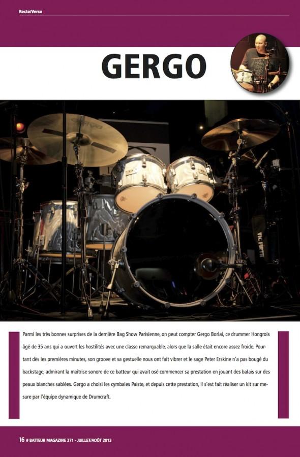 Gergo Borlai – Batteur Magazine n°271