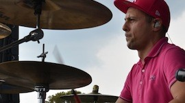 Greg Jacks, batteur DW de Superbus