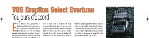 Eruption Select Evertune VGS – Guitar Part n°HS01