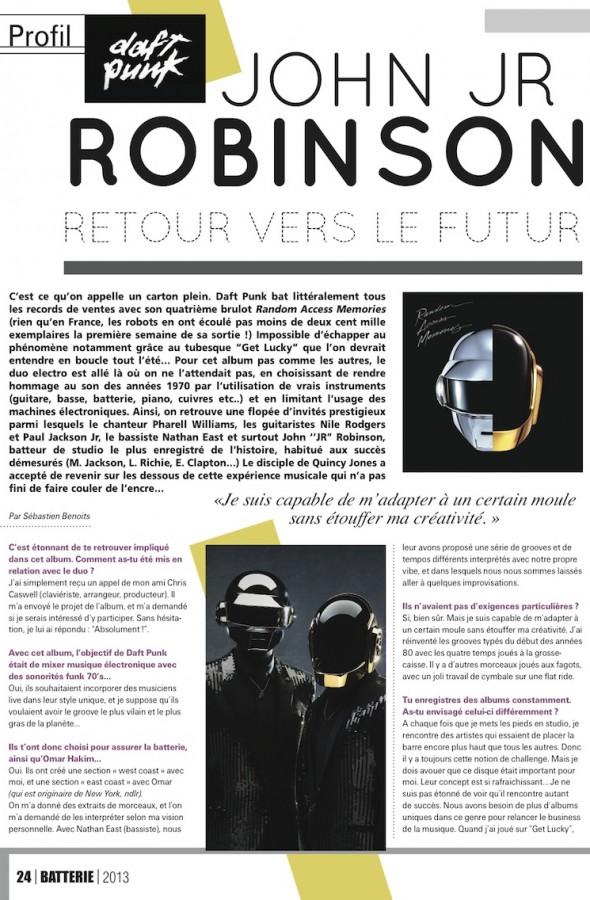 John Jr Robinson – Batterie Magazine n°103