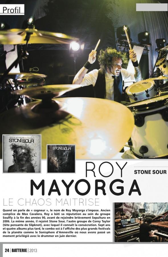 Roy Mayorga – Batterie Magazine n°104