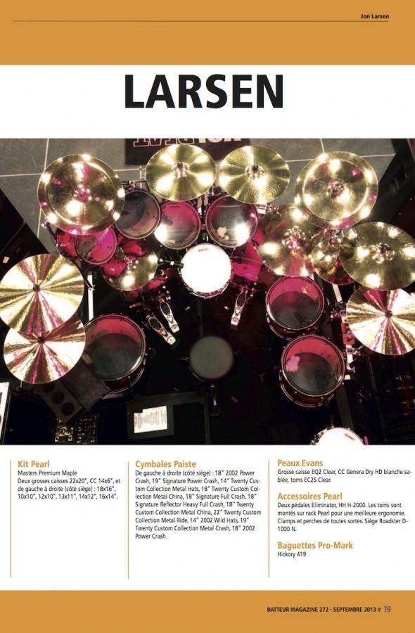 Jon Larsen – Batteur Magazine n°272