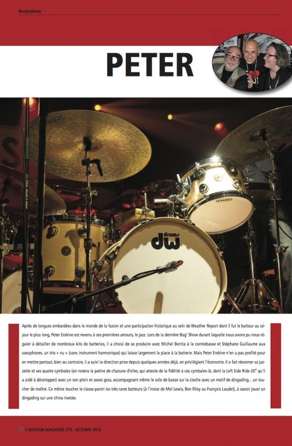 Peter Erskine – Batteur Magazine n°273