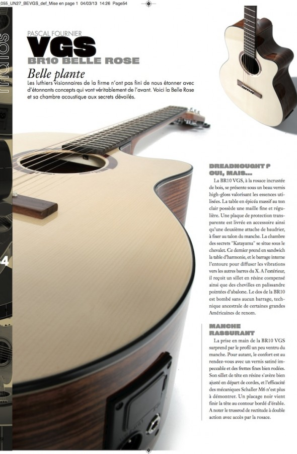 Belle Rose BR-10 et BR-20 CE VGS – Guitar Unplugged n°27