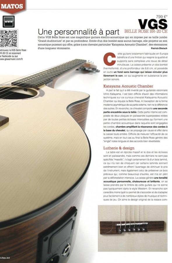 Belle Rose BR-20 CE VGS – Guitarist Magazine n°263