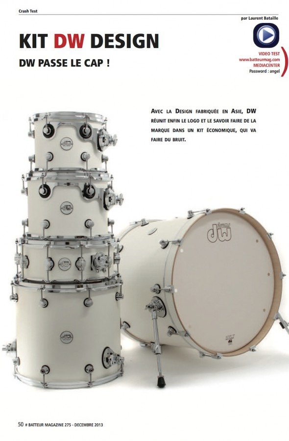 Kit Design DW – Batteur Magazine n°275