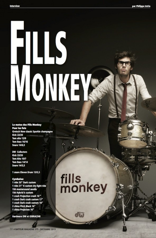 Fills Monkey – Batteur Magazine n°275