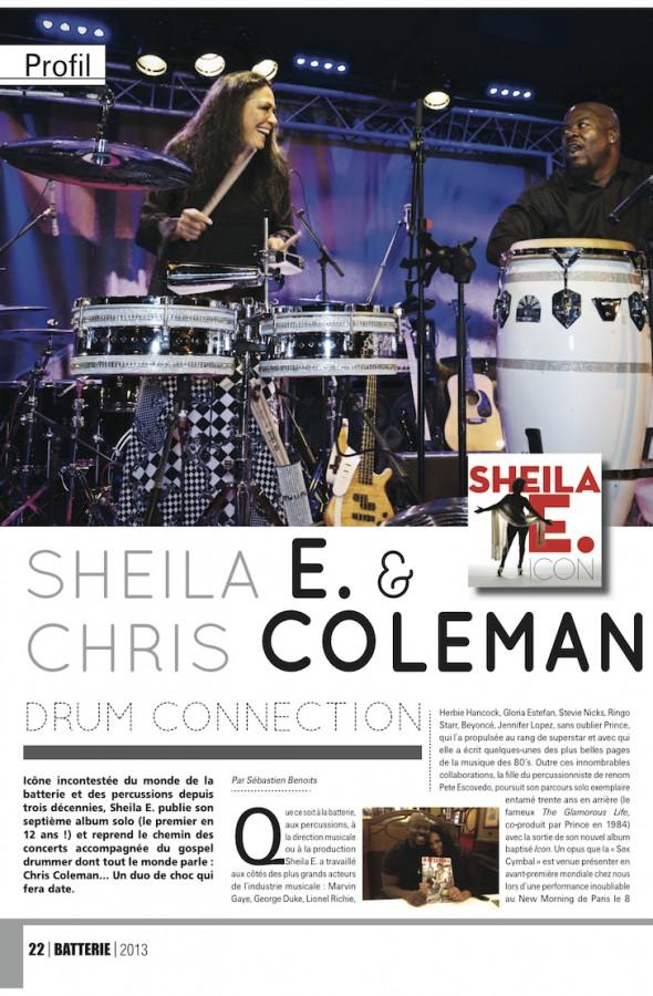Sheila E. – Batterie Magazine n°107